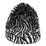 Dana Zoo Cat Hut Zebra Print Cat Bed