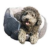 Dana Zoo Gray Corduroy Cuddler Dog Bed