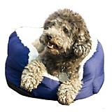 Dana Zoo Blue Imitation Jute Cuddler Dog Bed