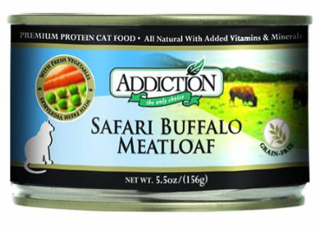 Addiction Grain Free Buffalo Meatloaf Can Cat Food