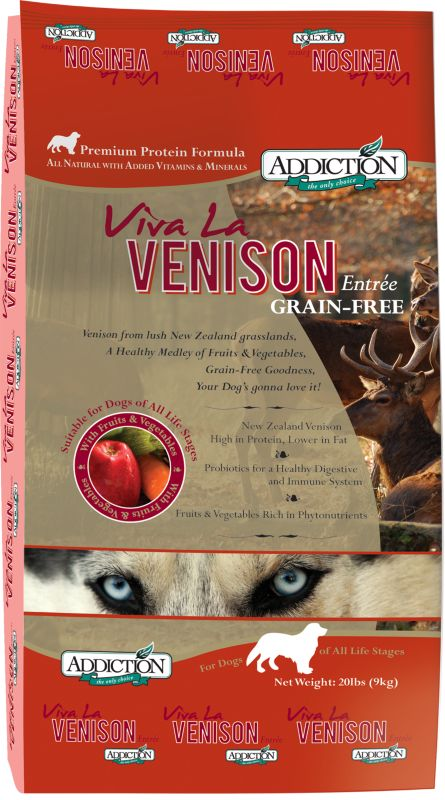 Addiction Viva La Venison Dry Dog Food
