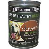 Daves Naturally Healthy Beef and Rice Can Dog Food
