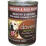 Daves Naturally Healthy Chicken/Rice Can Dog Food