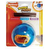 Romp N Chomp Rubber Ball Dog Treat Toy