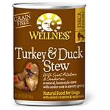 Wellness Turkey/Duck Stew Can Dog Food 12 Pack