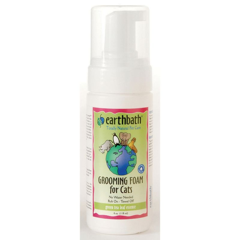 Earthbath Green Tea Waterless Foam Cat Shampoo
