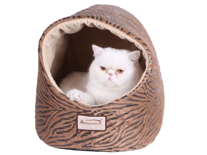Armarkat Hooded Bronze/Beige Cat Bed