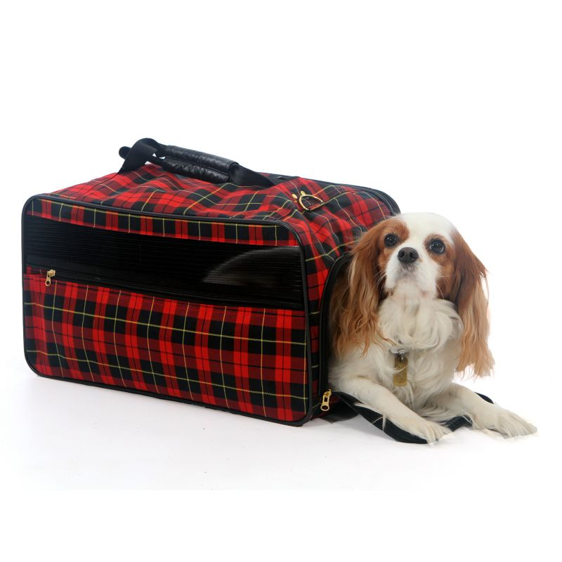 Bark n Bag Barkwell Plaid Classic Pet Carrier MD