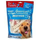 Pet Factory 4-6 Inch Small Dog Rawhide 10 Pack