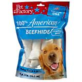 Pet Factory 6 Inch Medium Dog Rawhide 4 Pack