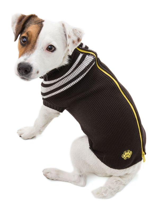 West Paw ProZip Dark Chocolate Dog Jacket Size 12