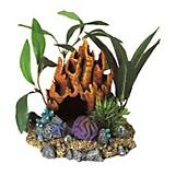Blue Ribbon Fire Coral Cave w/Plants