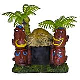 Blue Ribbon Betta Hut w/Tiki Totems
