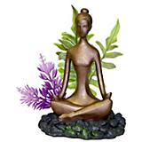 Blue Ribbon Zen Girl w/Plant Aquatic Decoration