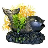 Blue Ribbon Zen Fish w/Plants Aquatic Decoration