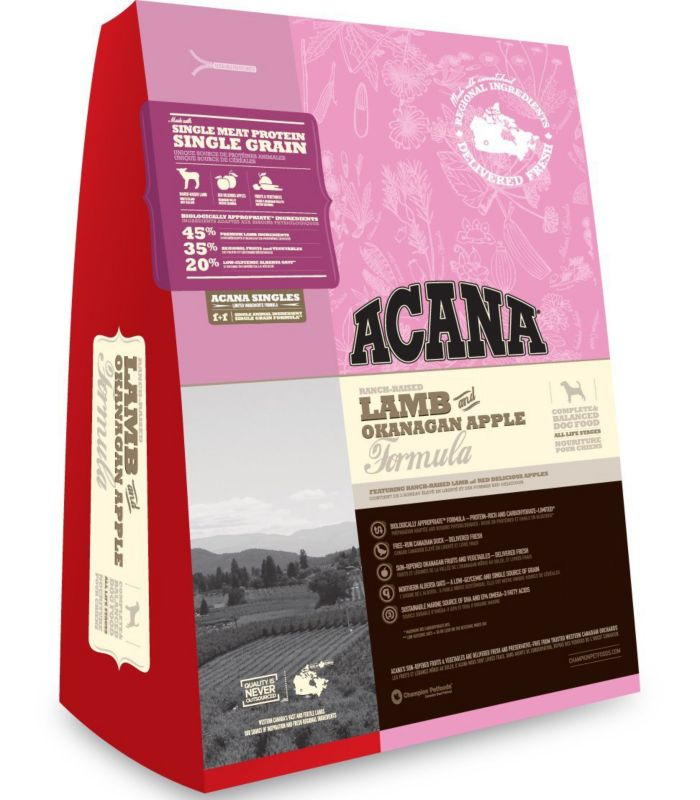 Acana Lamb and Okanagan Apple Dry Dog Food 28.6lb