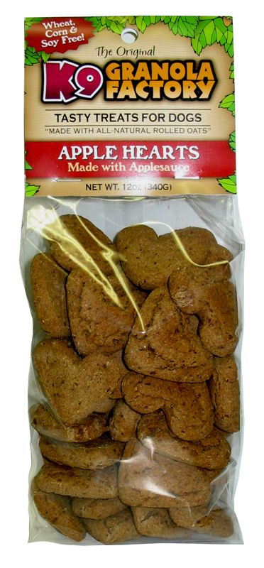 Baked and Bagged Mini Apple Hearts Dog Treat