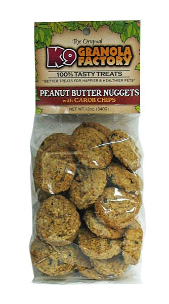 Baked and Bagged Nugget Dog Treat PB/Carob