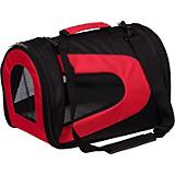 Pet Life Red and Black Sporty Mesh Pet Carrier