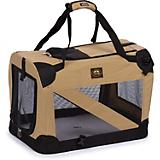 Pet Life Khaki Vista View Collapsible Carrier