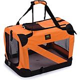 Pet Life Orange Vista View Collapsible Carrier