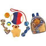 Pet Life 8-Piece Backpack Dog Toy Set