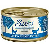 Blue Basics Duck/Potato Can Cat Food 24 Pack
