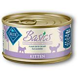 Blue Basics Kitten Turkey Can Cat Food 24 Pack