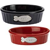 Petrageous Meow Oval Cat Bowl