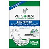 Vets Best Comfort Fit Male Dog Wrap 12 Pack