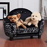 Enchanted Home Pet French Headboard Black Dog Bed