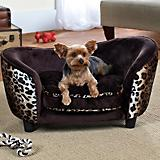 Enchanted Home Pet Ultra Snuggle Leopard Dog Bed