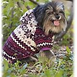 Fashion Pet Printed Sherpa Dog Coat