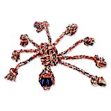 Mammoth FlossyChews Rope Spider Dog Toy