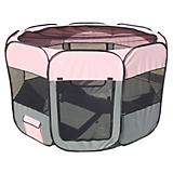 Pet Life All-Terrain Travel Pet Playpen Pink