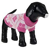 Pet Life Arygle Ribbed Pet Sweater Pink