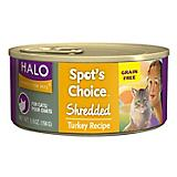 Halo Spots Choice Shredded Turkey Can Cat Food