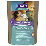 Halo Spots Stew Healthy Weight Salmon Dry Cat Food