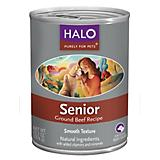Halo Ground Beef Senior Can Dog Food 12pk