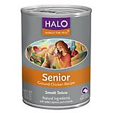 Halo Ground Chicken Senior Can Dog Food 12pk
