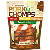 Premium Pork Chomps Assorted Twistz Dog Chews 24PK