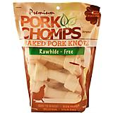 Premium Pork Chomps Baked Knotz Dog Chew