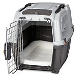 Skudo Plastic Dog Crate with FREE Fleece Bed
