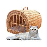 Home Bazaar Medium Wicker Pet House/Carrier Honey