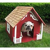 Home Bazaar Heart Dog House Red