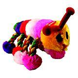 Playtime Plush Caterpillar w/Rope Dog Toy