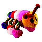 Playtime Plush Caterpillar w/Rope Dog Toy