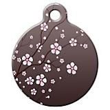 Asian Cherry Blossom Pet ID Tag