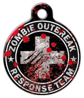 Zombie Outbreak Response Team Pet ID Tag Large