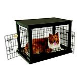 Petmate Indoor Wooden Wire Dog Kennel Crate